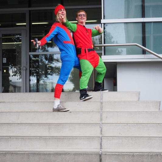 11:45am Spiderman and Robin